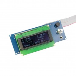 LCD module with white OLED