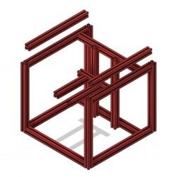 Voron V0 frame (Red)